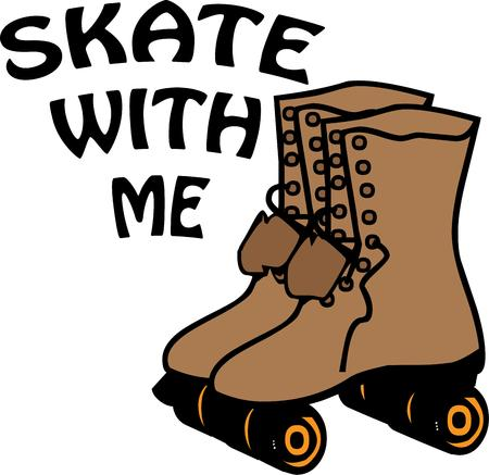 little skate: Skate happy, skate speedy, skate slow, skate a little, skate a lot..just skate!  Create a fun bag for your skates decorated with this fun design.