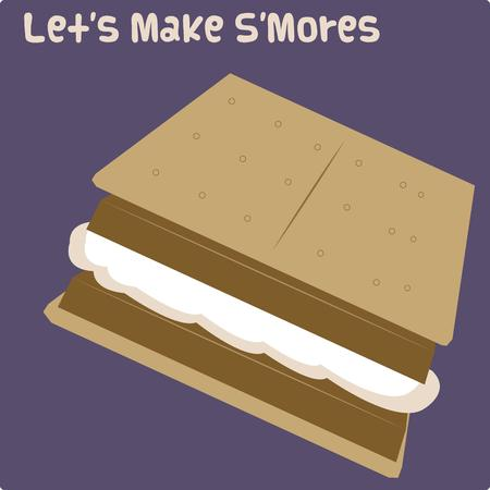 marshmallows: It is the treat that makes a camping trip perfect.  Yummy smores are always a hit!  Create something perfect for your camping gear with this tasty design.