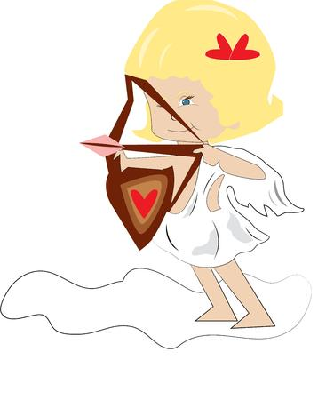 amor: This super sweet Cupid is looking for victims of her love arrow. Send some love with this design on your most lovely Valentine\