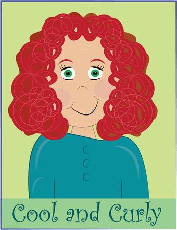 curly hair child: A lovely picture of a curly haired girl can be just what you need to create educational visuals.  Use on print or stitch, she is sure to create a memorable effect.