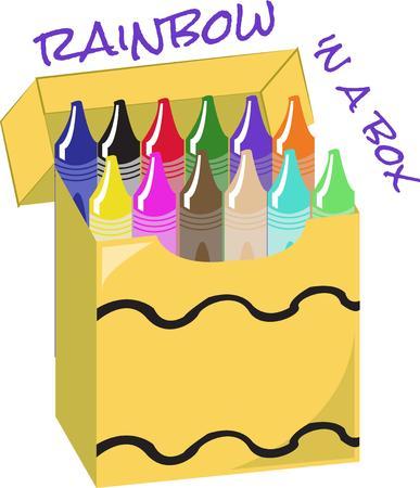knutsel spullen: Breng je fantasie tot leven met een doos van kleuren. Dit krijt doos is een geweldige decoratie voor schort de perfecte kunstenaar!