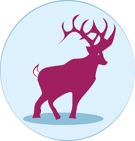 whitetail deer: An elegant buck creates a majestic silhouette in this blue orb.  Perfect for home decorations such as pillows and tapestries.