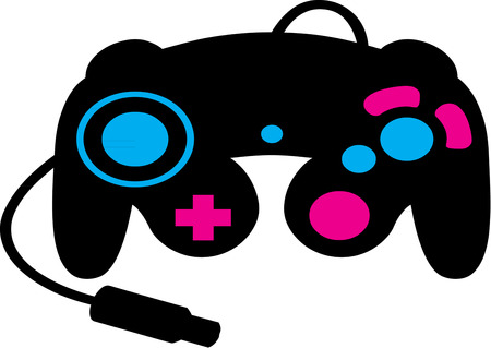 wasted: Can hours behind a game console really be wasted?  Create something for the gamer in your house that they will truly love.  Great for apparel, hats or bags! Illustration