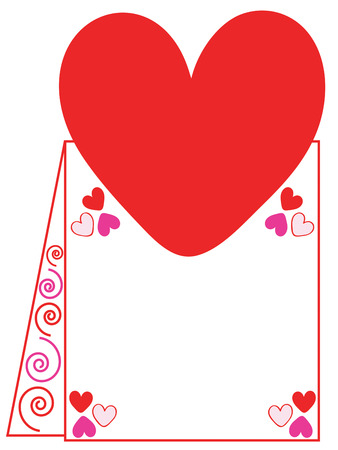 ours: This classic Valentines card adds a traditional flair to your creation.  Add your custom text or use ours either way its simply lovely. Illustration