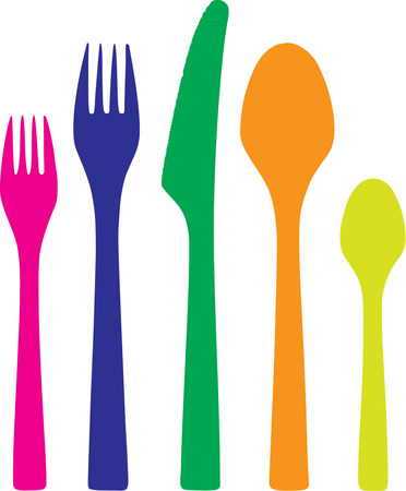 flair: Colorful plastic flatware is just what your picnic needs to become an event.  Add this flatware to your picnic basket for a festive flair.