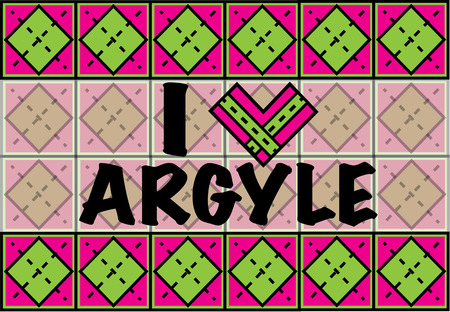 lozenge: Colorful and preppy, we love argyle prints. Show your special style with this trendy print pattern. Illustration