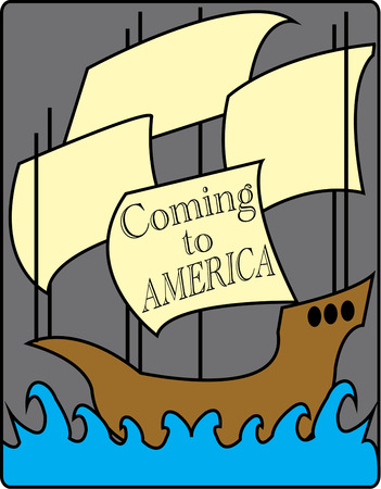 pinta: Create something unexpected for Columbus Day with this sailing ship.  Make art for the classroom or apparel embellishment with this nautical design. Illustration