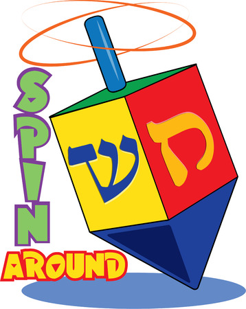 hanuka: Bright colors and traditional Hebrew lettering come together to create a lovely dreidel. Bring the traditions of Hanukak to your holiday projects with this traditional dreidel.