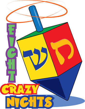 jews: Bright colors and traditional Hebrew lettering come together to create a lovely dreidel. Bring the traditions of Hanukak to your holiday projects with this traditional dreidel.