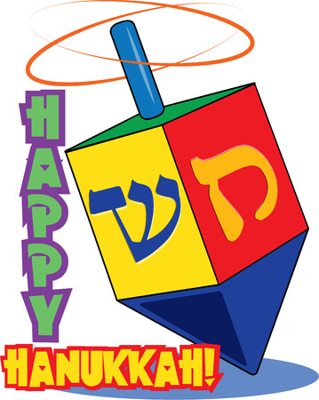 dreidel: Bright colors and traditional Hebrew lettering come together to create a lovely dreidel. Bring the traditions of Hanukak to your holiday projects with this traditional dreidel.