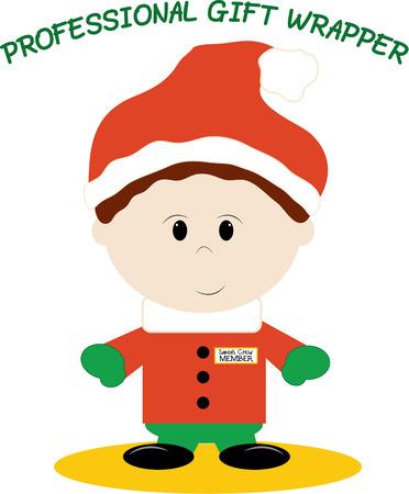 little one: Crear engranajes vacaciones lindo para su peque�o con este duende de Navidad. A�adir a la peque�a \\\\