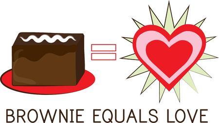equals: Ein gro�er Schokoladen-Brownie - Ich bin so in der Liebe! Diese leckeren Schokoladenliebhaberentwurf ist einfach perfekt f�r Ihre K�che d? Cor.