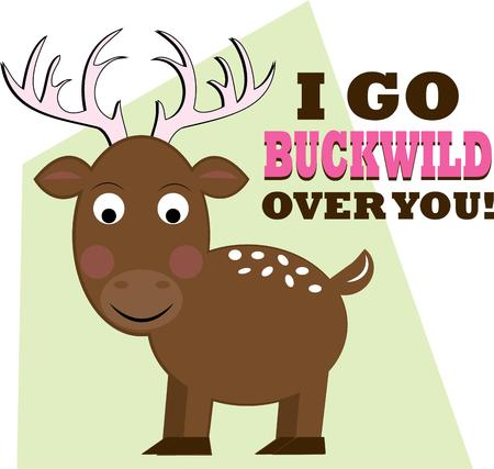 buck: Not just any buck but a super cute big horned buck!  This cute guy is just amazing to create a shirt for that special little guy.