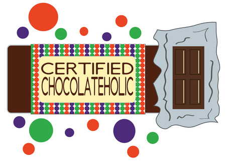 raiser: Unwrap a wonderful treat with this chocolate bar.  Add it to special signage for the snack bar for the team fund raiser! Illustration