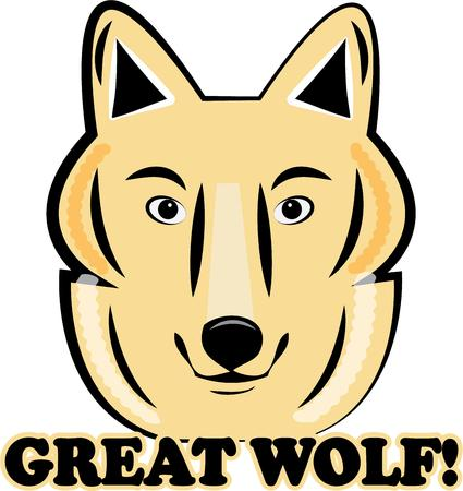 either: This wolf is great for either a mascot or an animal creation.  Think team apparel and swag!