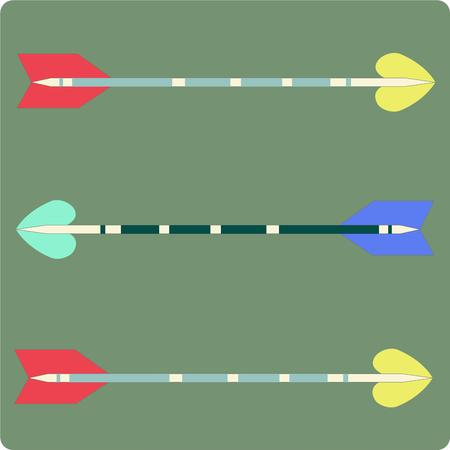 the shaft: Colorful and unique arrows come together creating a fitting design for the archer or bow hunter.  Decorate a bow case or create some throw pillows for the man cave. Illustration