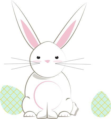 cottontail: Un precioso conejo de Pascua es pr�cticamente un requisito para las creaciones de la primavera.