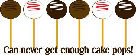 cake balls: Cake balls on a stick are an amazing treat  Illustration