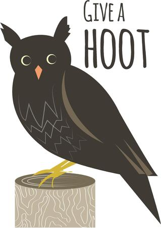 stately: stately owl Illustration