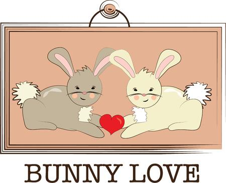 coney: The perfect picture of bunny love.