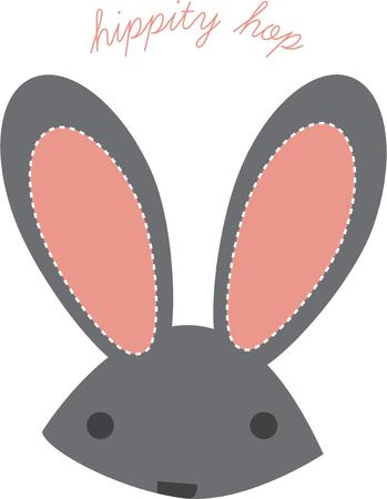 cottontail: Big bunny ears complete the perfect rabbit.  Stitch this lovely cute rabbit onto baby apparel, telephone covers and accessories.