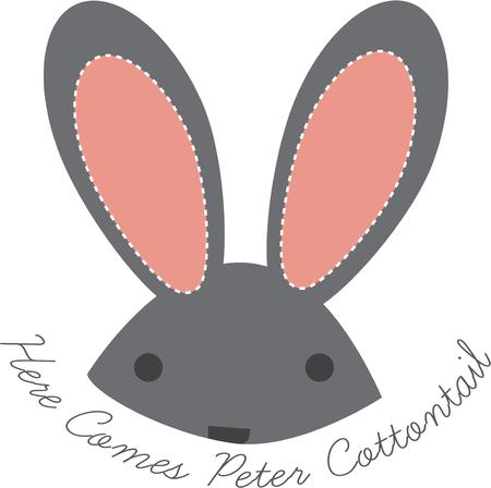 coney: Big bunny ears complete the perfect rabbit.  Stitch this lovely cute rabbit onto baby apparel, telephone covers and accessories.