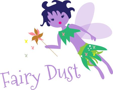 little girls love fairies.  Vector