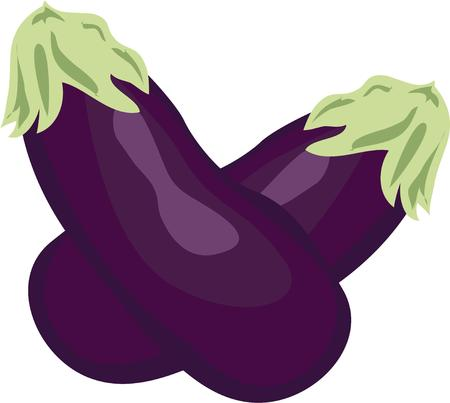 veggies: Eggplants are beautiful veggies.  Their unique coloring allows a vegetable motif with a splash of purple.  Perfect for aprons and tea towels.  Pretty print art for menus too!