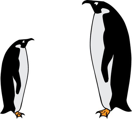 arctic penguin: Nothing says cold quite like the sight of a penguin.  These tuxedo wearing arctic animals are the perfect addition to your jackets and coats.
