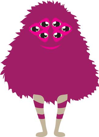legs stockings: This  super cute little furry monster will rock you out of your socks. Illustration