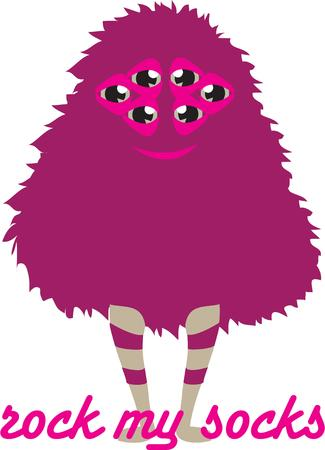 legs stockings: This  super cute little furry monster will rock you out of your socks.