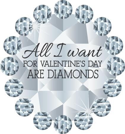 too much: Not too much of a Valentine\s Day wish - just diamonds, and lots of them!