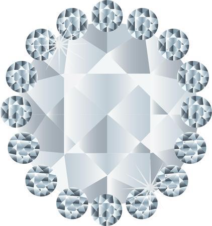 mineral stone: diamond Illustration