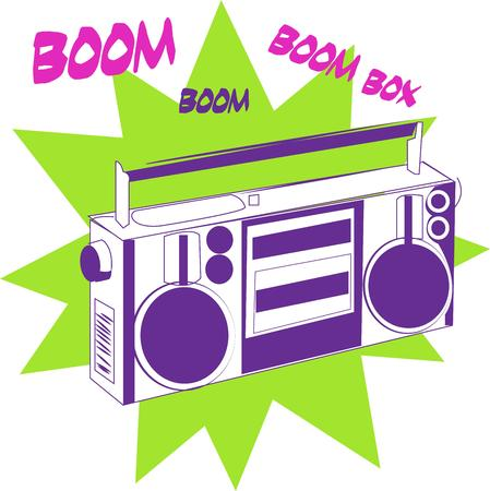 boombox: A throw back to a time when tunes came from a huge box rather than a tiny player.