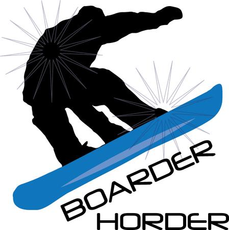 boarders: A super design for snow boarders everywhere!  Illustration