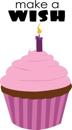said: Happy Birthday said with a single cupcake.  Elegant and simple.