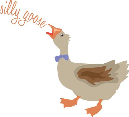 antics: The antics of this mother goose Illustration