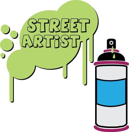 arte callejero: Crear algo divertido y especial con la secuencia de comandos en este arte de pulverizaci�n. El mejor arte de la calle!
