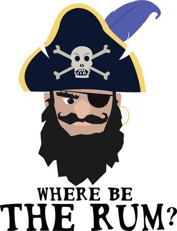 privateer: Beware!  A mean pirate lurks.   Illustration