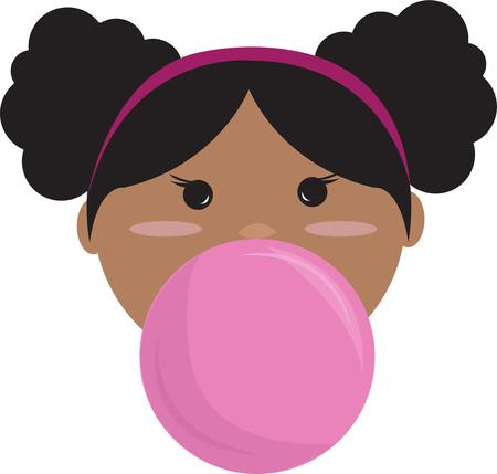 bubble gum: Our bubble gum princess is a champion bubble blower!  She is a super sweet addition to a project for the little girl in your world.