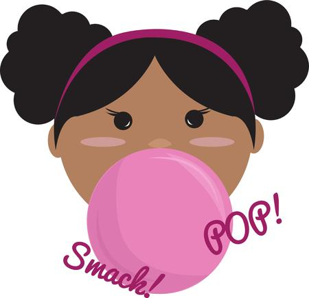 pig tails: Our bubble gum princess is a champion bubble blower!  She is a super sweet addition to a project for the little girl in your world.
