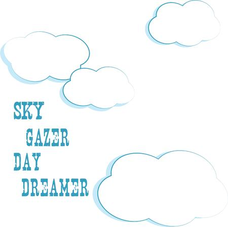 dreamer: Puffy white clouds float across the sky.  Such a lovely and relaxing scene.