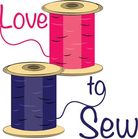 sewing box: If there is a single most important tool for the seamstress, it must be thread.  This is such a pretty design to decorate a sewing box.