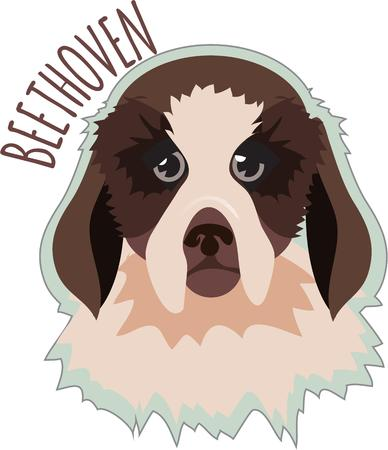 pooch: This artistic dog friend adds its lively appeal to your projects.  It is great for creating a special shirt or bag for a canine friend! Illustration