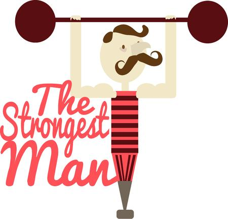 strongest: The absolutely amazing strong man from the circus is here to add his special charm to your creations.  Great for d?cor items in a circus themed room. Illustration