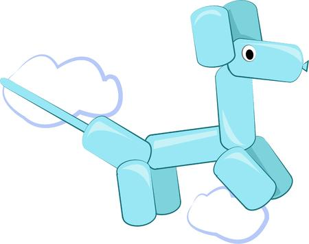 doggie: What child does not love a balloon animal.  This air filled doggie is a lovely compliment to kids wear.