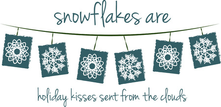 snowfalls: This fun string of snowflakes is a beautiful way to decorate your holiday home.