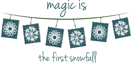 snowfalls: This fun string of snowflakes is a beautiful way to decorate your holiday home. Illustration