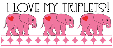 sweethearts: Create an unexpected Valentine with these elephant sweethearts.