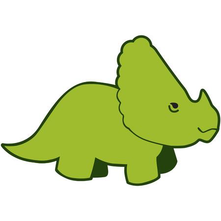 extinction: Little boys love dinosaurs   Illustration